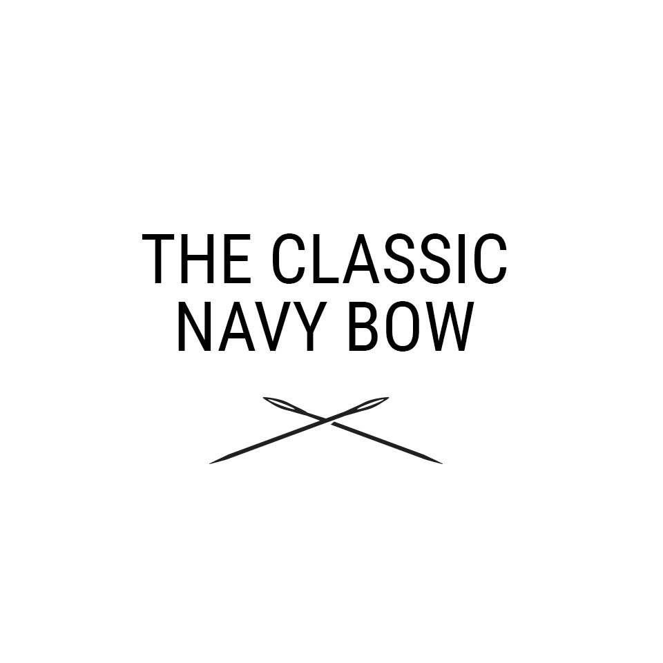 CLASSIC NAVY BOW